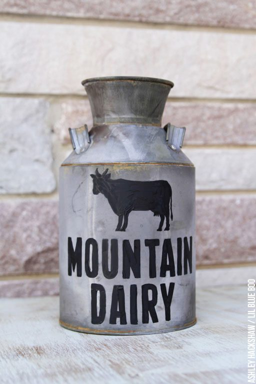Old milk can decorating ideas - How to make your own