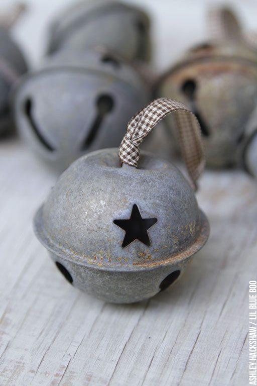 How to age and distress jingle bells for the primitive rustic look