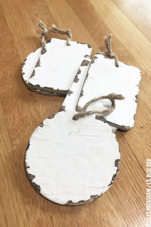 handmade DIY distressed christmas signs