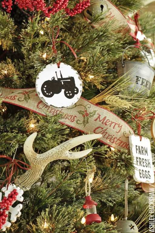 DIY Rustic Farmhouse Christmas Ornaments Ideas
