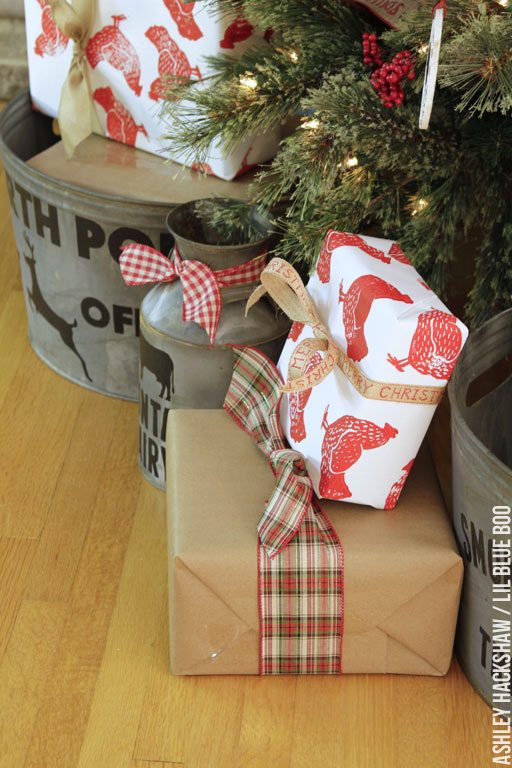 DIY: Stamped Wrapping Paper - Chicken themed rustic farmhouse decor