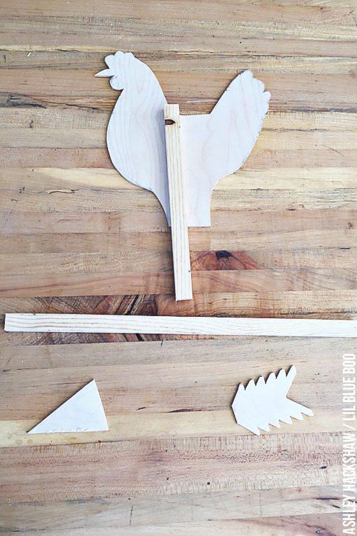 How to make a chicken weathervane