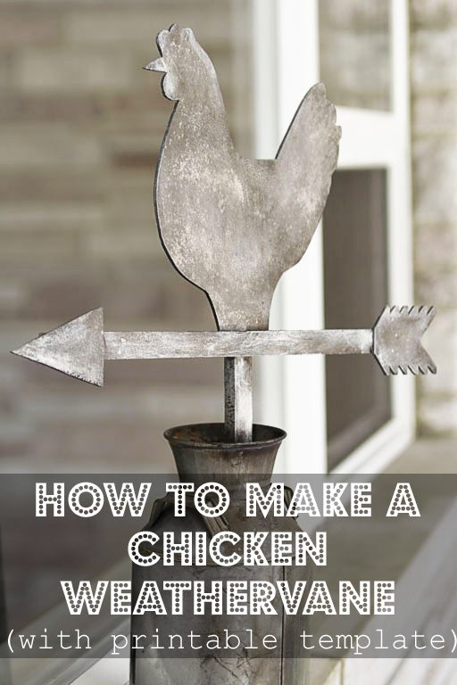 How to Make a Chicken Weathervane - Tutorial and Download