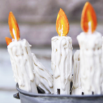 Faux Clothespin Candles