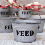 Tiny Feed Bucket Ornaments