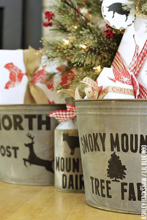 Rustic Farmhouse Christmas Holiday Decor