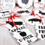 Vintage Farm Sign Ornaments