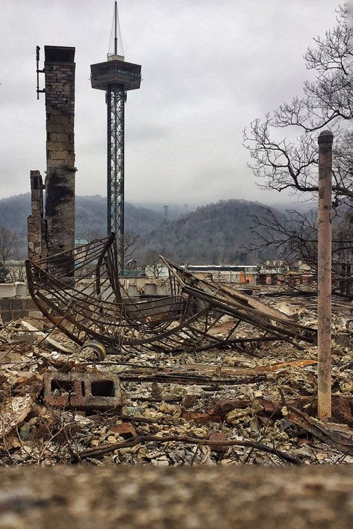 Gatlinburg Fire downtown