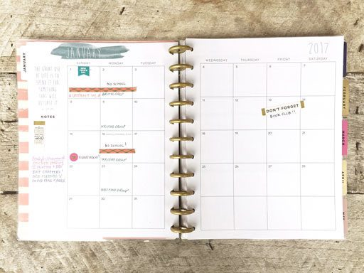 Cool 2017 planners and calendars for getting organized