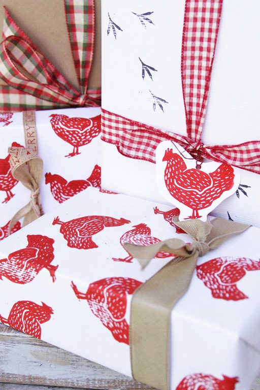 Wrapping Paper Ideas - DIY Stamped Holiday Wrapping Paper