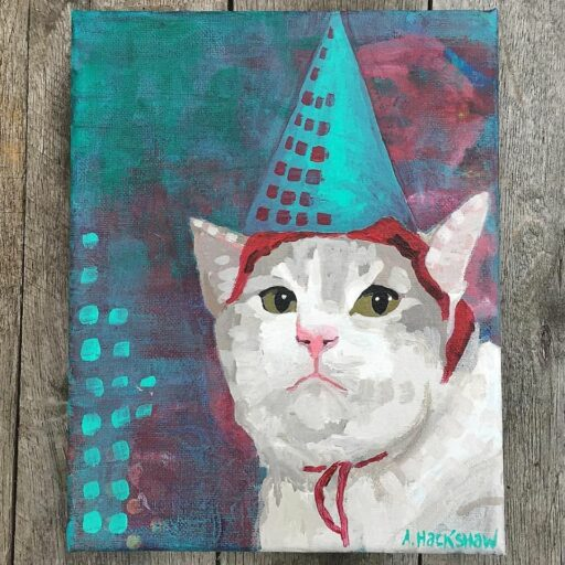 A Cat in a hat - Painting of the day