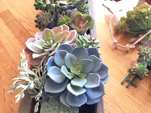 DIY Artificial Succulent Arrangement Tutorial