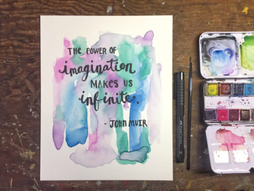 Daily Painting -John Muir Quote - Watercolor