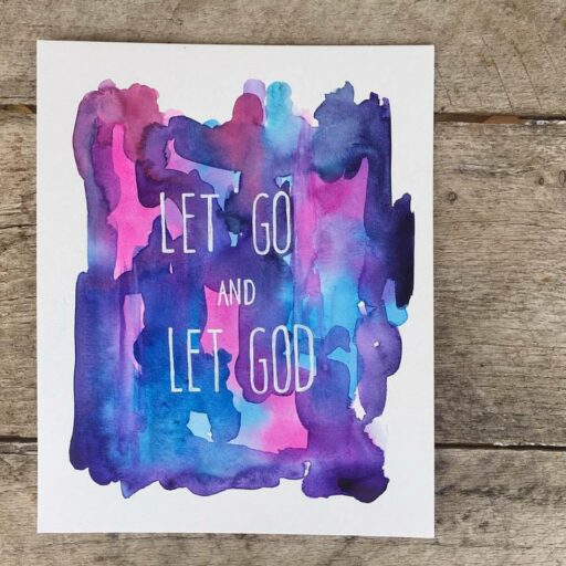Daily Painting - Let Go and Let God - Watercolor