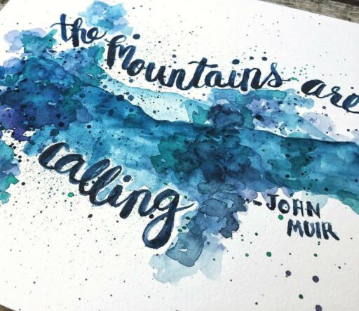Daily Painting - The Mountains Are Calling - Watercolor