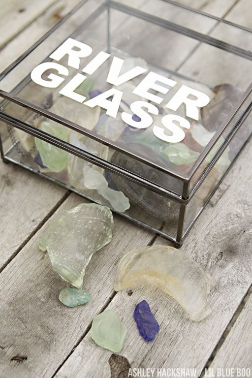 Organizing sea glass and other items using shadow boxes for display