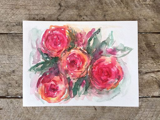 Floral Watercolor - Ashley Hackshaw - 365 Project - Daily Painting