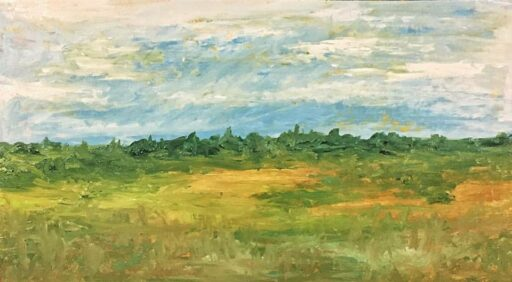 Painting on Reclaimed wood - Landscape