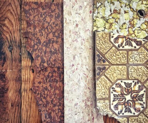 Old Farmhouse Layers - Flooring and Wallpaper