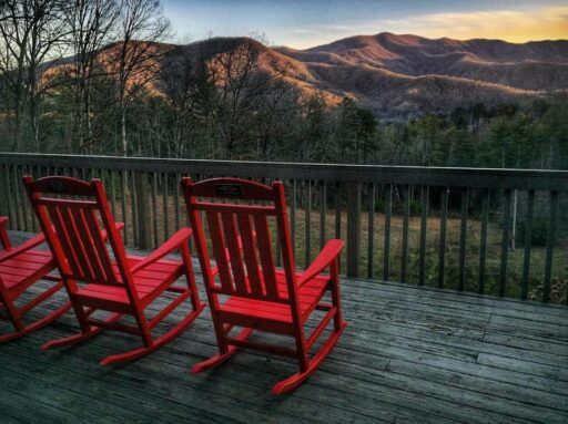 Hemlock Inn rocking chairs - Bryson City