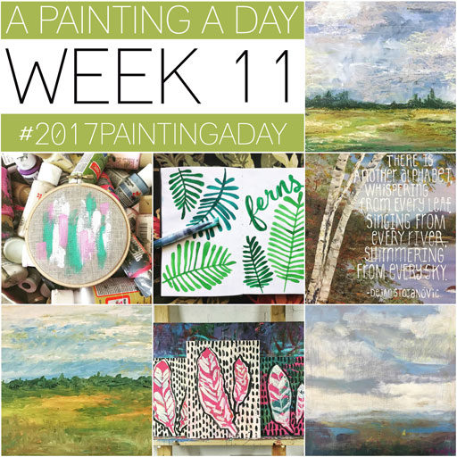 365 Project - Daily Painting - Ashley Hackshaw - Week 11 Landscapes