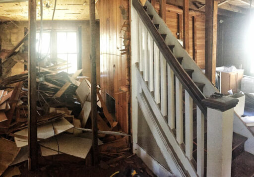 Farmhouse staircase and banister