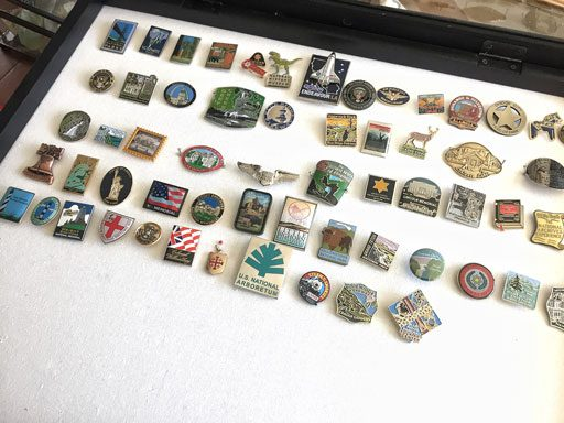 How to display button pins - travel destinations - shadow box ideas