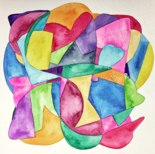 Watercolor doodle on paper - Week 13 of 14 of my daily painting 365 project. #365project