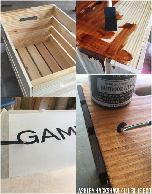 How to make a Summer Outdoor Games Crate - Organization for the backyard