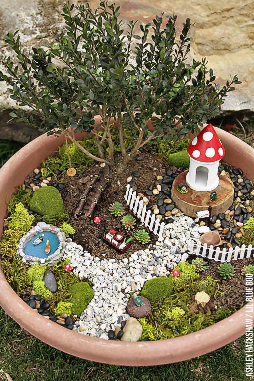 Fairy garden ideas how to make a bonsai tree fairy garden for Garden idea et 700