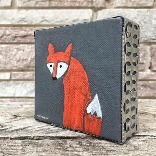Tiny Fox Painting - Artist: Ashley Hackshaw / Lil Blue Boo