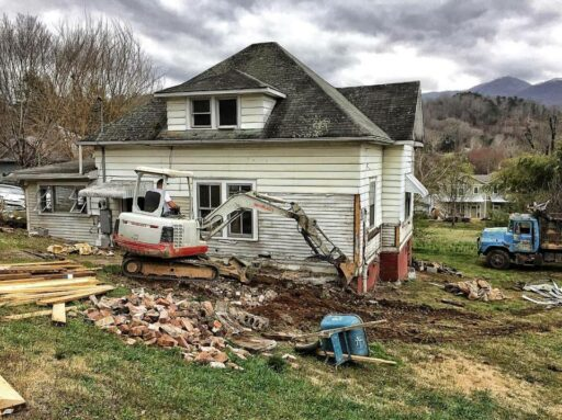 Building a New Farmhouse Foundation - Farmhouse in Bryson City