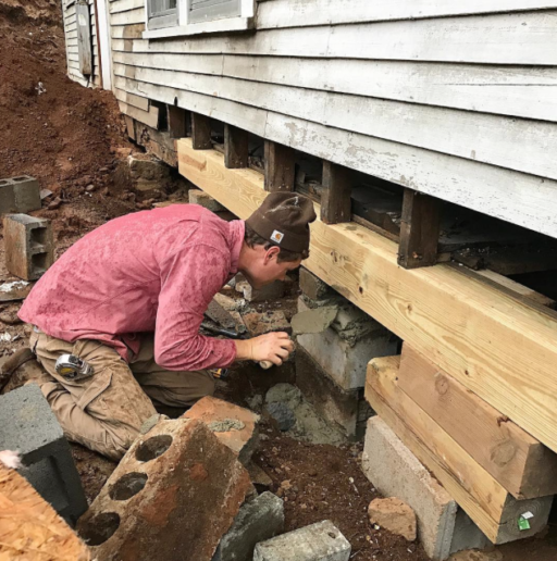 rebuilding farmhouse foundation piers