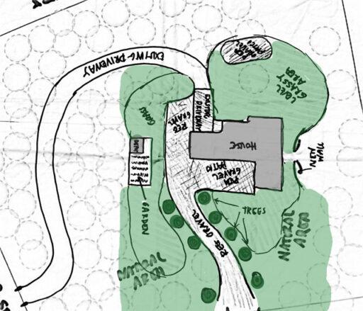 Landscape Plan - Gravel Driveway