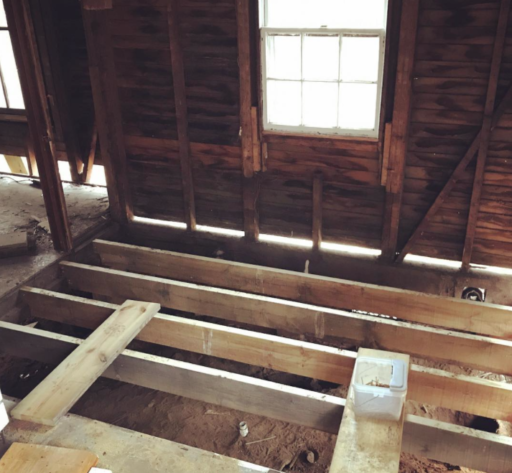 Putting The Farmhouse Back Together Joists And Subfloor