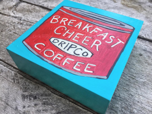 Coffee can painting