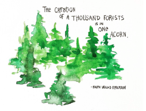 Forest Painting - Ralph Waldo Emerson