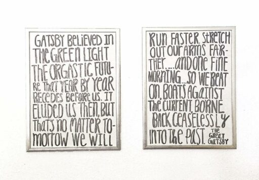 Quote Painting - Great Gatsby quote