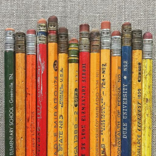 A Collection of old pencils