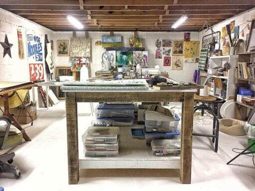 Art Studio Work Table DIY
