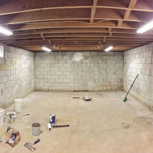 Basement renovation to art studio