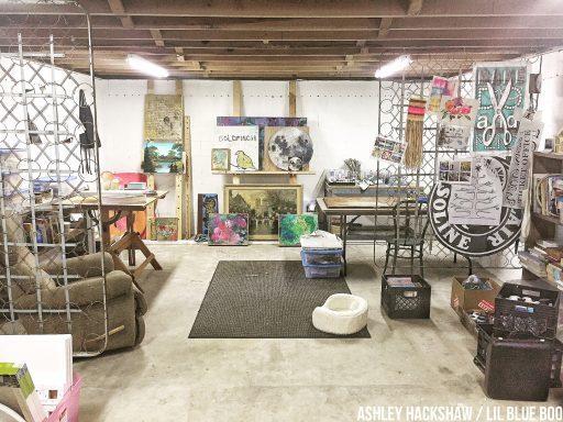 Creating An Art Studio Basement Art Studio Transformation A Hackshaw