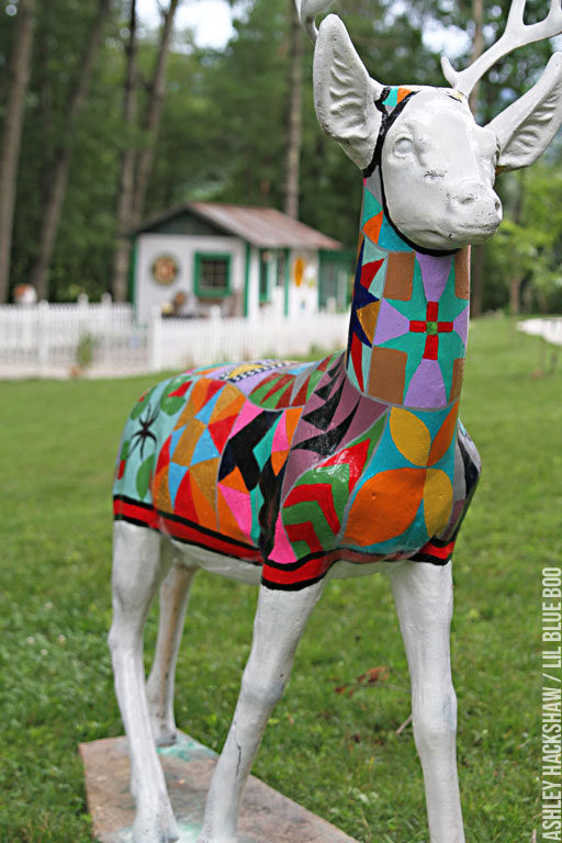 Painted Deer - Outdoor Concrete decor