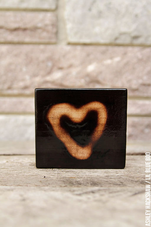Wood burning projects - Wood hearts