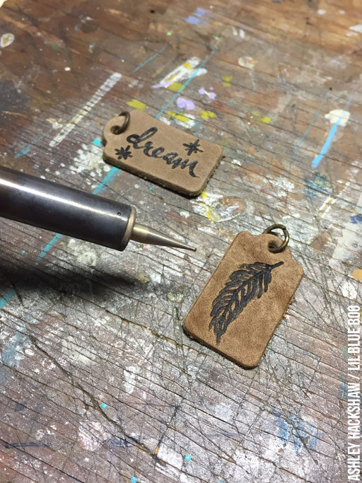 Burning Designs on Leather - Pyrography - leather tags