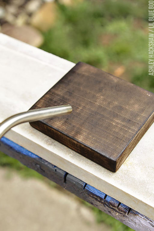 How to age wood with a torch