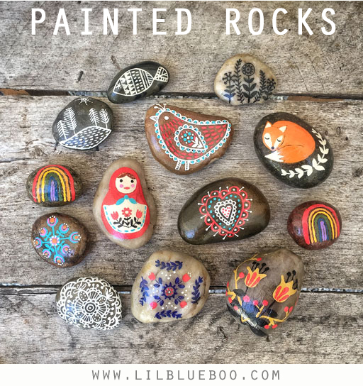 painted rocks and rock painting ideas rock art to leave for others