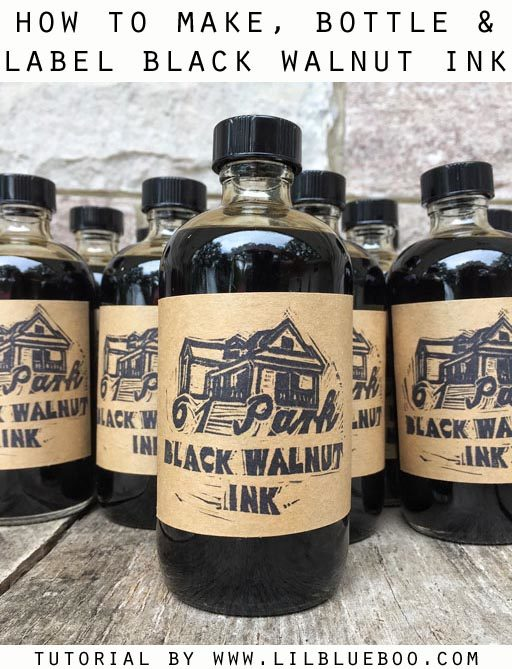 DIY Black Walnut Ink - How to Make, Bottle and Label Your Own DIY Black Walnut Ink