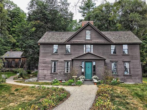 Louisa May Alcott's Orchard House where she wrote Little Women
