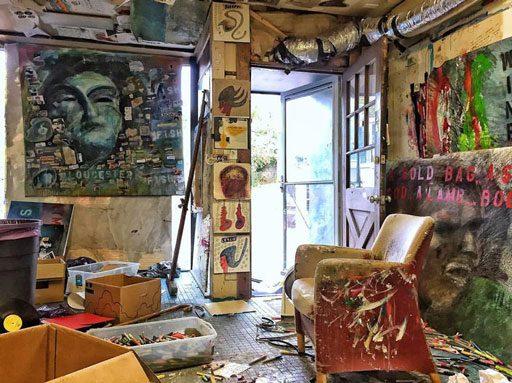 Jon Sarkin's studio - Gloucester Cape Ann